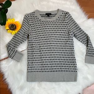 J. Crew Tippi jacquard dot sweater